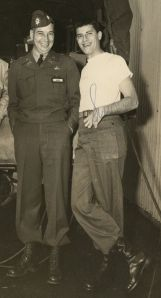 "General Seitz with another ""prankster"": Jerry Lewis"