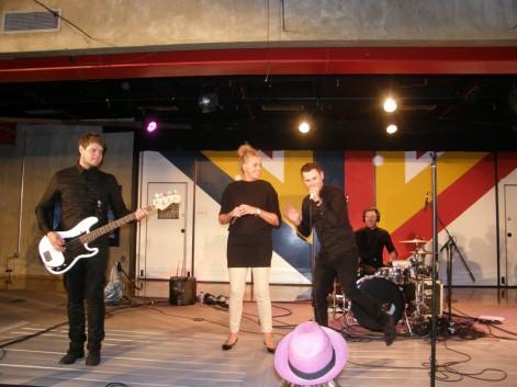 Highlight of the evening: GLC Principal Kerstin Hopkins performing with Artig