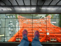 I dare you to stand on the glass floor at the top of the tower...