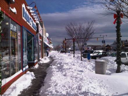 Digging out on Rehoboth Avenue