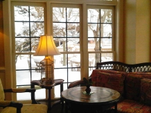 Good to be inside at the Bellmoor Inn.